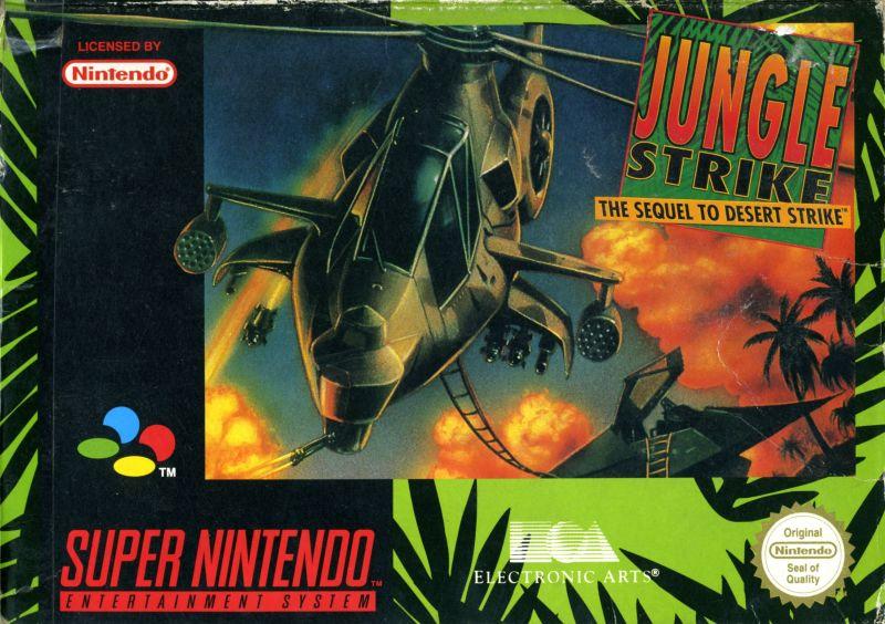 Jungle Strike The Sequel To Desert Strike Shoot Em Up Snes